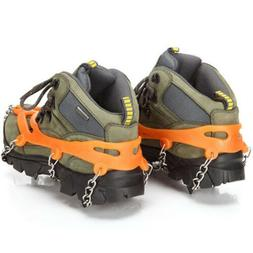 1 Pair Anti Slip Cleats for Hiking Boots Men Women Shoes Gri