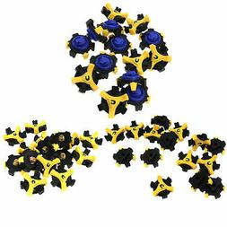 15Pcs Golf Shoes Spikes Cleats Studs Pins 3 Shapes Replaceme