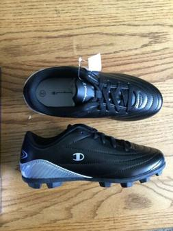 Champion 180079 Cleats Boy's Black Shoes Size: 3 New, Never