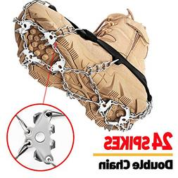 EnergeticSky 24 Spikes Crampons Ice Cleats Traction Snow Gri