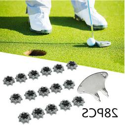 28PCS Golf Shoe Spikes Pins Replacement Studs Fast Twist For