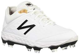 New Balance Men's 3000v4 Baseball Shoe, White/White, 6 D US
