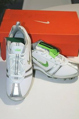 NIKE 334097  101 Speedlax Lacrosse Turf Shoes Cleats White/G