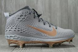 40 Nike Zoom Trout 5 Metal Baseball Cleats Grey Gold Copper