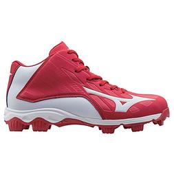 Mizuno 9 Spike ADV YTH FRHSE8 MD RD-WH Youth Molded Cleat ,