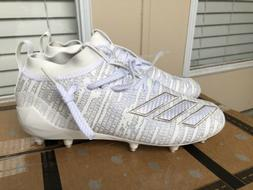 adidas Adizero 8.0 Football Cleats White EE7450 Mens Size 8.