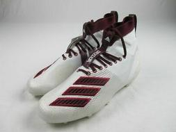 adidas adizero 8.0 SK Cleats Men's White/Maroon NEW Multiple
