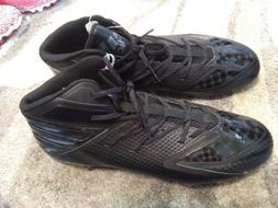 adizero football cleats all black size 17