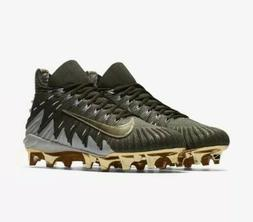 Nike Alpha Menace Elite Khaki Gold Football Cleats 871519-30