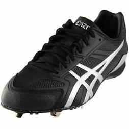 ASICS Base Burner  Athletic Baseball Cleated Shoes - Black -