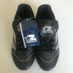 Starter Baseball Cleats Boys Size 2 Black Shoes Interchangea