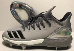 ADIDAS Boost Icon 4 Topps Baseball Cleats Grey/Carbon/Grey/H