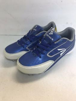 boys baseball cleats blue and white size