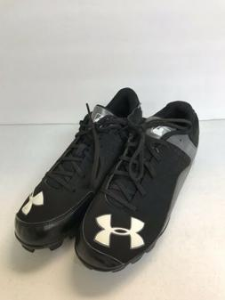 Boys's Baseball Cleats, Under Armour, Black And White, Siz