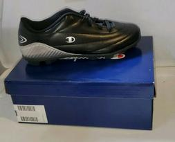 Champion Brand Youth Soccer Cleats Black Silver Size 4Y New