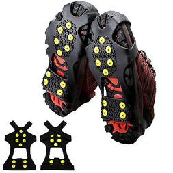 Cleats Anti-Slip Boot Shoes Covers Studded Traction Spike Cr