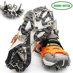 EnergeticSky Crampons for Shoes,Anti-Slip Traction Ice Cleat