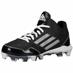D73936 Boys' Adidas Baseball Wheelhouse 2 K Mid Cleats!! BLK