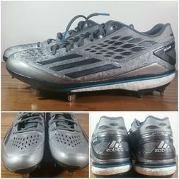 Adidas Energy Boost Metal Baseball Cleats Silver White Gray
