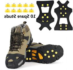 Eonpow Ice Grips, Ice  Snow Grips Cleat Over Shoe/Boot Tract