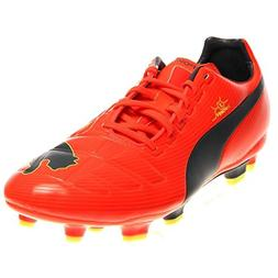 PUMA Men's Evopower 3 Firm Ground Soccer Shoe,Fluorescent Pe