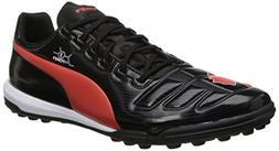 PUMA Men's Evopower 3 Turf Soccer Shoe,Black/Grenadine/White