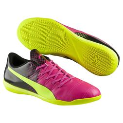 Puma EvoPower 4.3 Indoor Turf Kids Soccer Cleats Pink & Yell