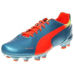 PUMA Men's Evospeed 3.2 Firm Ground Soccer Shoe,Sharks Blue/
