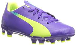 PUMA Evospeed 5.3 Firm Ground JR. Soccer Shoe , Prism Violet