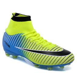 Fashion Men Boy Soccer Cleats Shoes Outdoor Soccer Football