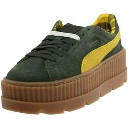 puma cleated suede creeper sneakers
