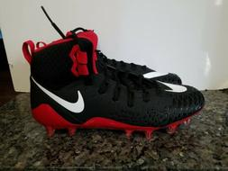 NIKE FOOTBALL CLEATS MENS BLACK RED SIZE 12 FORCE SAVAGE PRO