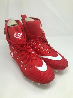 Nike Force Savage Elite TD High Top Football Cleats Red/Whit