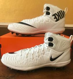 Nike Force Savage Pro TD Size 14 White Football Cleats Chief