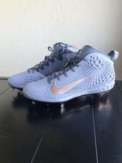 NIKE Force Zoom Trout 5 Baseball Cleats Wolf Grey Metallic S