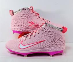 Nike Force Zoom Trout 5 Breast Cancer Baseball Cleats Sz 9 N