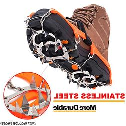 Freshday Non-slip Ice Gripper Climbing Crampons Traction Cle