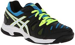 ASICS GEL Game 5 GS Tennis Shoe ,Onyx/White/Atomic Blue,2 M