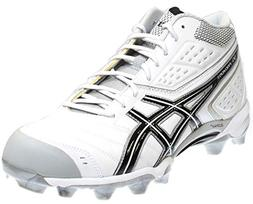 ASICS Men's GEL-Provost Lacrosse Cleat,White/Black/Silver,9.