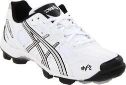 ASICS Women's GEL-V Cut Field Shoe,White/Silver/Black,12 M