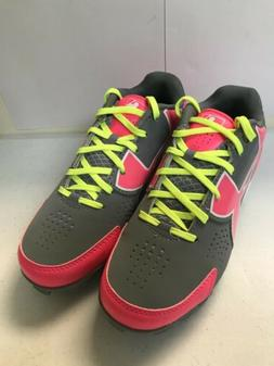 Girl's Softball Cleats, Under Armour, Pink And Grey, Sizes 1