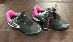 girls softball cleats mako black pink new