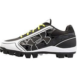 04214bd60a8 Under Armour Women s Glyde RM Softball Cleat Black White 8 M
