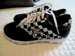 SKECHERS Go Golf Black & White Argyle Leather 13570 Sexy Com
