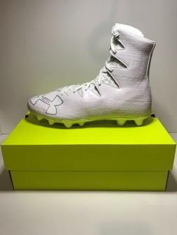 UNDER ARMOUR HIGHLIGHT MC FOOTBALL CLEATS WHITE SILVER NEW 1