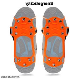 EnergeticSky Ice Cleat Spikes Crampons and Tread for Snow,Ic