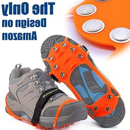 EnergeticSky Ice Cleat Spikes Crampons and Tread for Snow &
