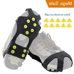 HoFire Ice Cleats, Ice Grips Traction Cleats Grippers Non-Sl