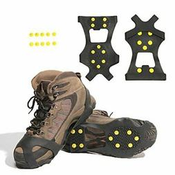 Carryown Ice Cleats, Ice Grips Traction Cleats L