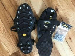 Stabilicers ice cleats, mens XL with Vibram soles